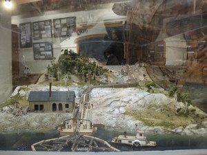 Close up of Tramway Scale Model Exhibit